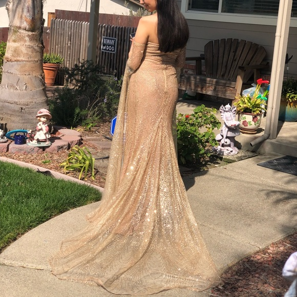 b81ac99ff71 Dresses & Skirts - Jocelina dress in Gold - by alamourthelabel